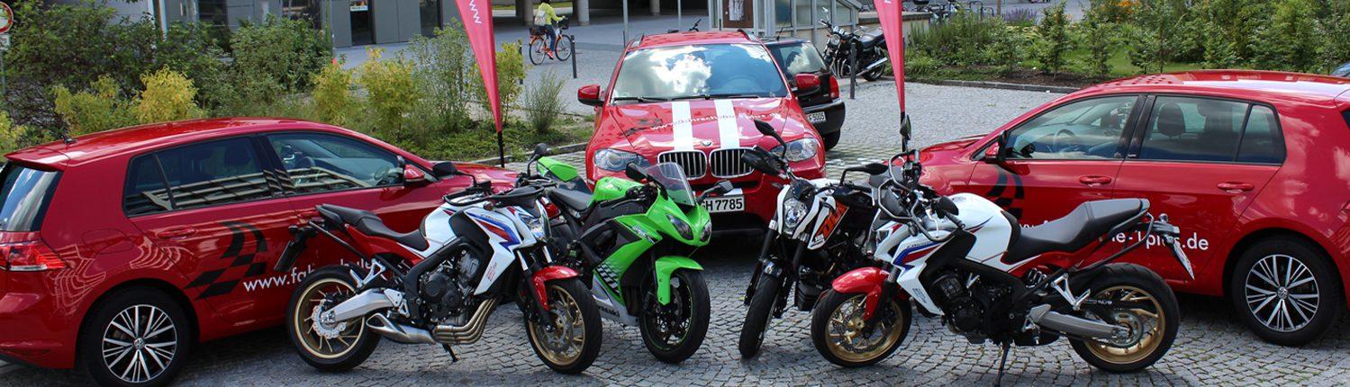 Fahrschule 1plus, Führpark, Fahrzeuge, BMW X6, VW Golf 7